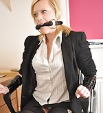 Slutty secretary tied to the chair