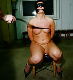 Irish gagged, plastic blindfolded, whipped